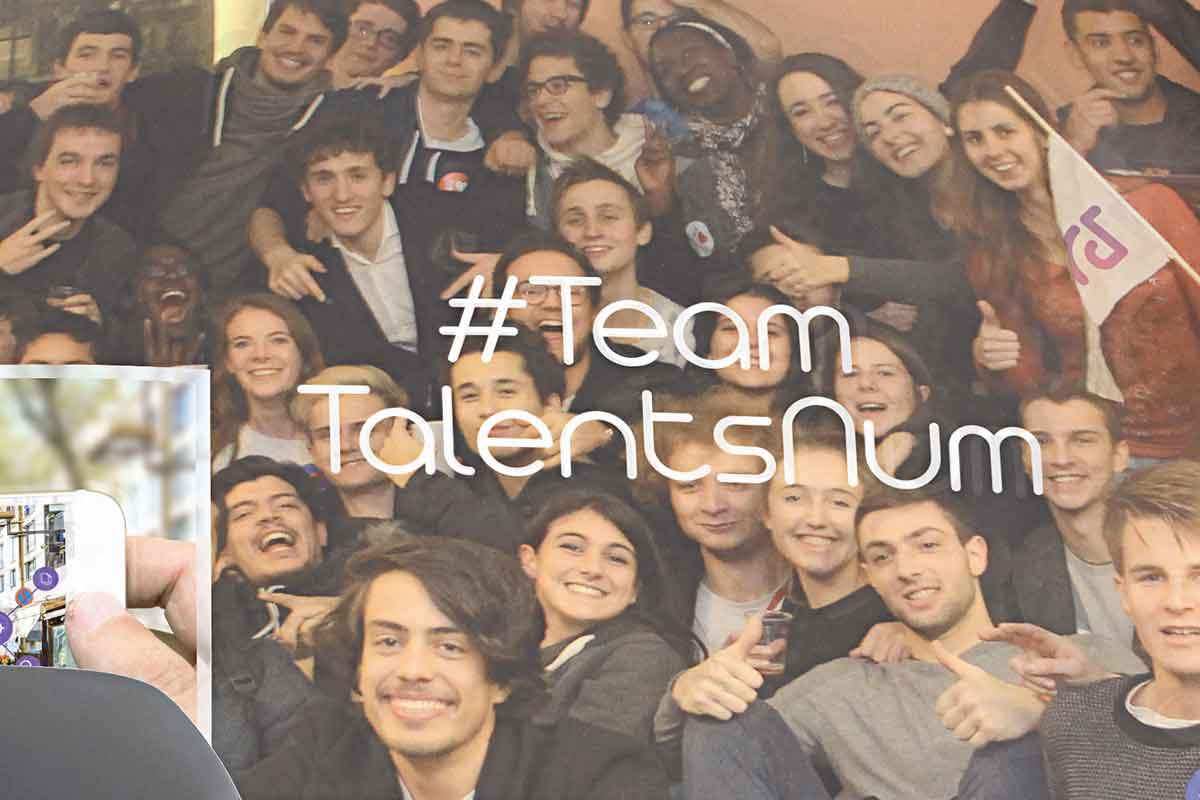 étudiants de la team talents du num